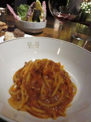Spaghetti all'Amatriciana for Ametrice
