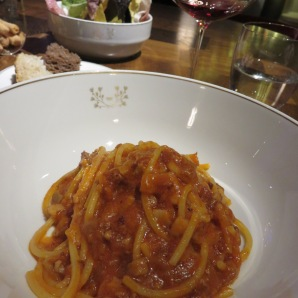 Spaghetti all'Amatriciana for Ametrice
