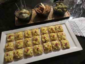 Egg and Bacon Canapés
