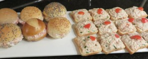 *Melty Ham&Cheese Party Sandwiches, Tuna Canapés