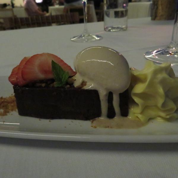 Chocolate Fondant with passion fruit foam
