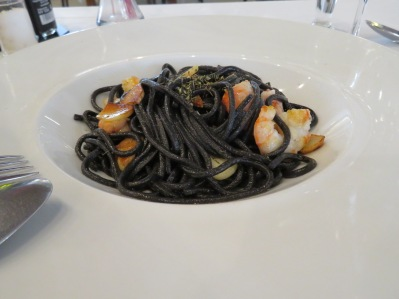Black Spaghetti with Prawns