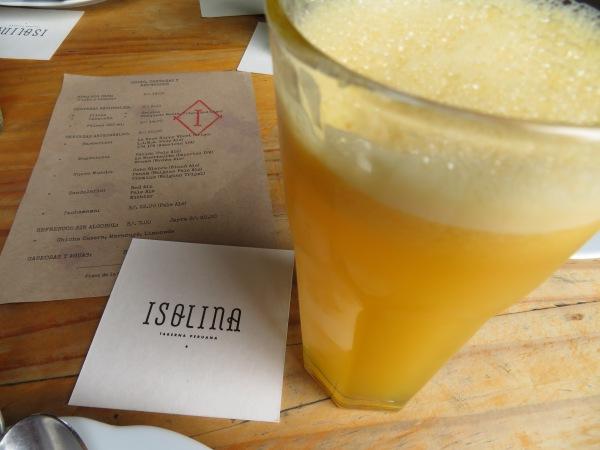 Fresh maracuya juice